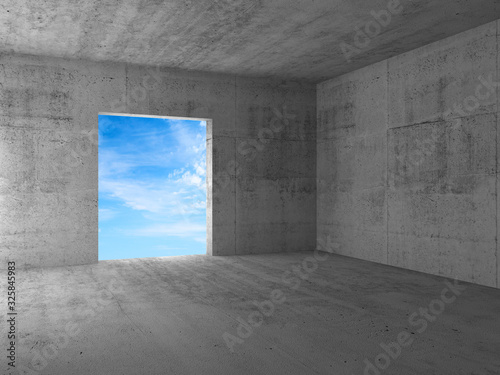 Blue sky behind an empty doorway in a corner Canvas-taulu