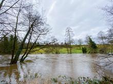 Knaresborough Yorkshire England River Flooding