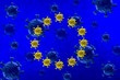 Leinwanddruck Bild - Coronavirus in Europe on blue background. Health concept. Medical concept.