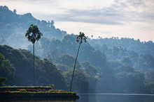 The Lake In Kandy In Central S...