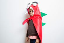 5-year-old Girl Dressed As A D...