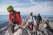 Climbing Guide Leads Two Clien...