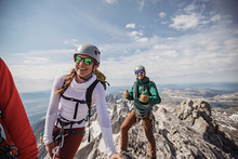 Three Rock Climbers Smile Afte...