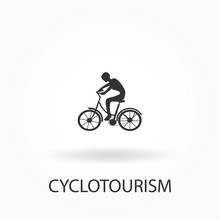 Cyclotourism Icon. Elements Of...