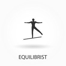 Silhouette Of A Equilibrist, M...