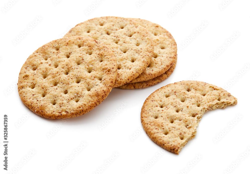 Fototapeta Cracker Isolated on White Background
