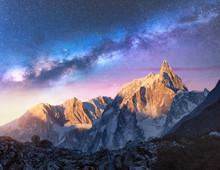Milky Way Over Beautiful Mount...