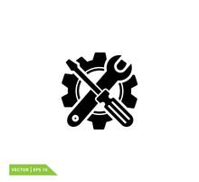 Screwdriver Icon ,repair Icon Vector Logo Template