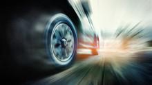 Speeding Car With Green Power