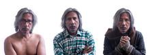 Portrait Of Homeless Or Senior...