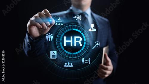 Obraz HR Human resources Recruitment Team Staff management Business concept. - fototapety do salonu