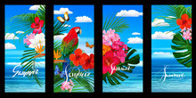 Set Of Tropical Wallpapers For...