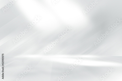 Canvastavla soft gray studio room background, grey floor backdrop with spotlight