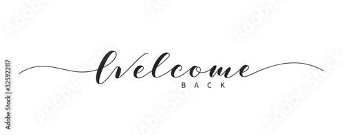 Fotografia Welcome back hand drawn brush lettering