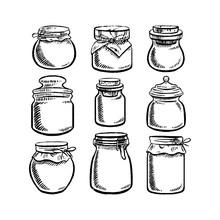 Set Of Different Jars