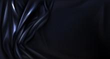 Black Silk Or Latex Folded Clo...