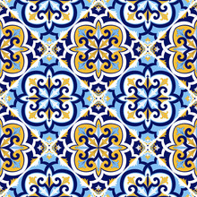 Portuguese Tile Pattern Vector...