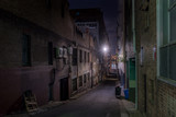 Fototapeta Uliczki - narrow street at night