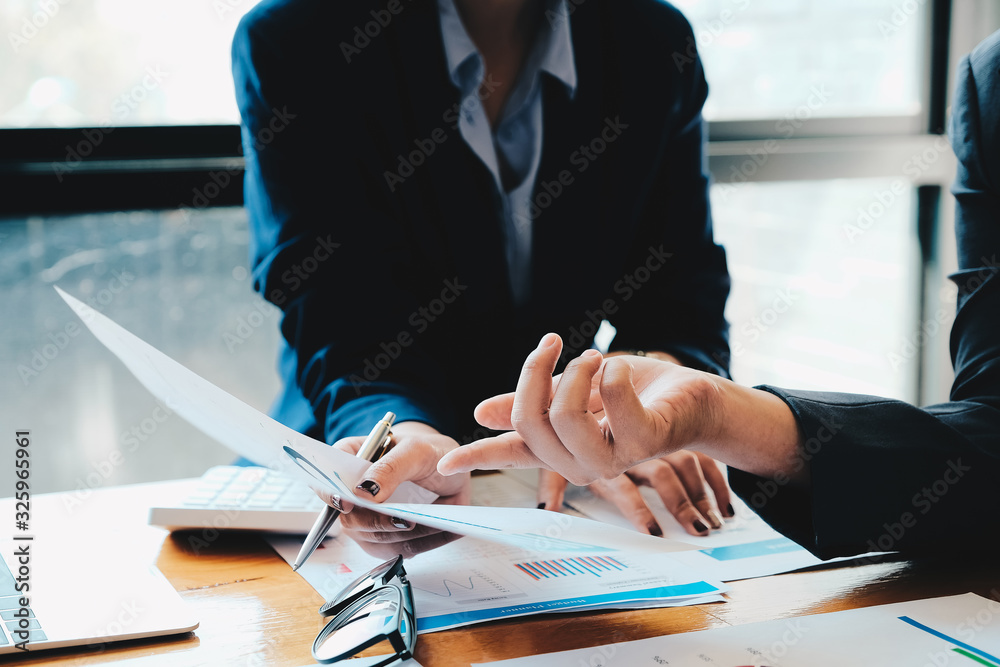 Fototapeta Business People Planning Strategy Analysis from financial document report, Office Concept