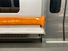 Orange And White Subway Seats