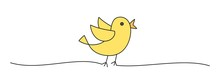 Doodle Black Easter Chick Bird Scribble Banner