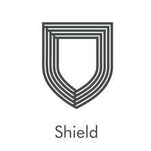 Logotipo Escudo Con Líneas Pa...