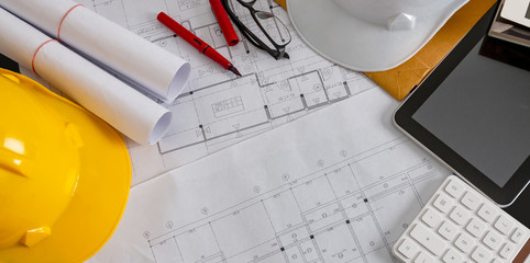 Concept background Professional architectural and engineering design, banner design