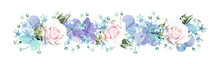 Decorative Floral Border With ...