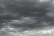 Dark Storm Clouds Before Rain ...