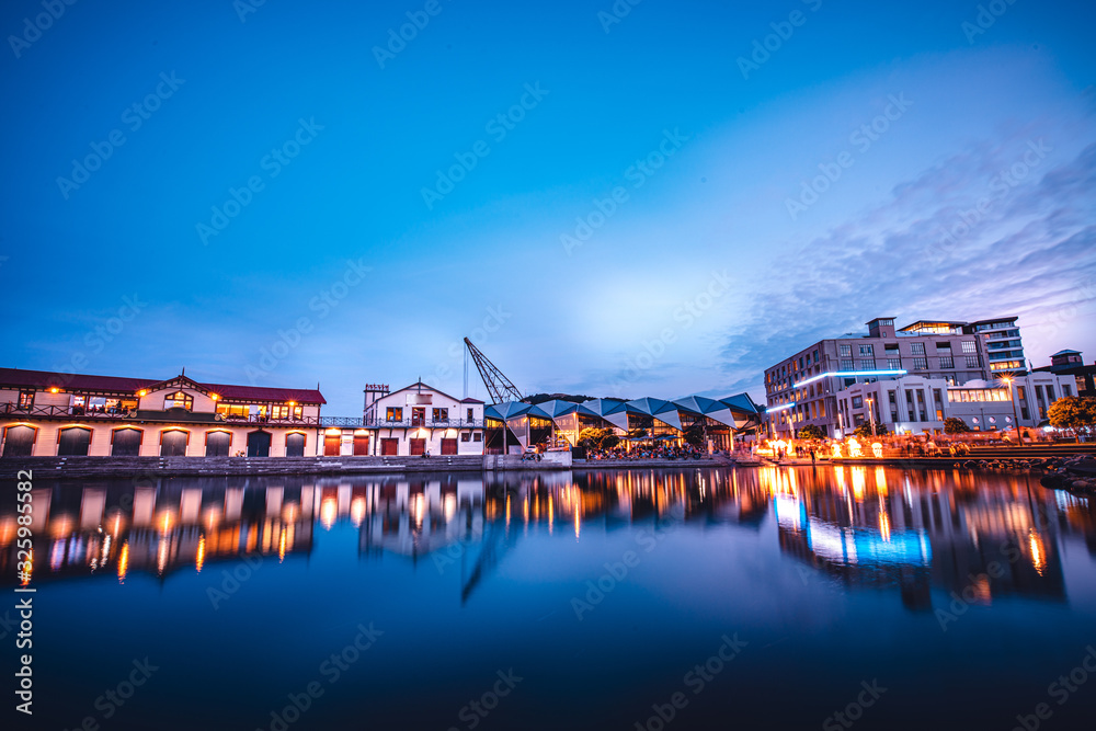Nightscape of Wellington City, New Zealand