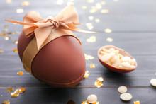 Sweet Chocolate Easter Egg On ...