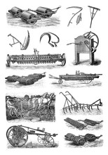 Old Agriculture Rollers Collag...