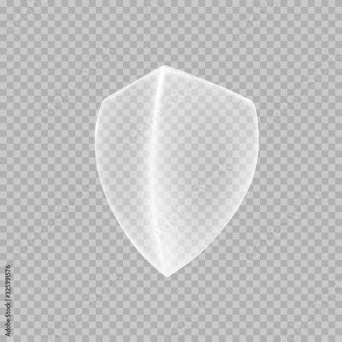 Shield icon isolated on transparent background Fototapete