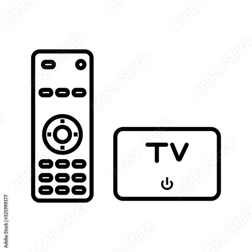 Photo TV and television equipment vector