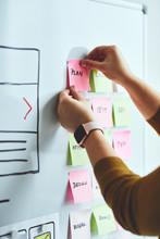 Female Web Designer Planning W...