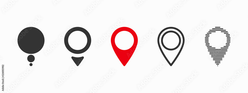 Fototapeta Red maps pin. Location map icon. Location pin. Vector icon