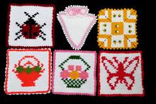 Hand Knitted Bath Pouches, Bat...
