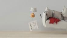Schwebende Möbel In Schwerelo...