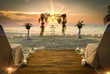 Wedding Set Up The Sea Romantic