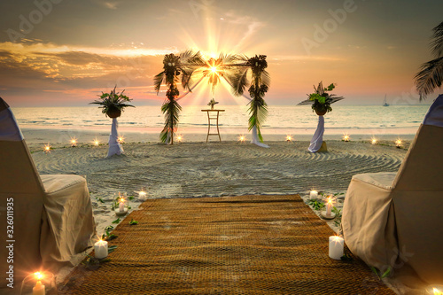 Wedding Set Up the sea Romantic