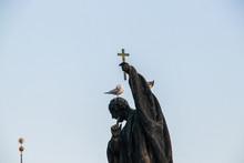 Statue On Charles Bridge In Pr...