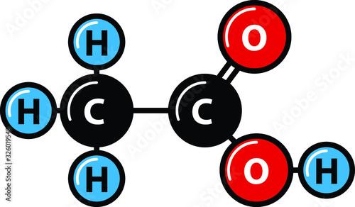 Photo acetic acid icon