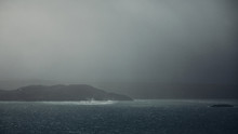 Squall Over Bay In Scotland