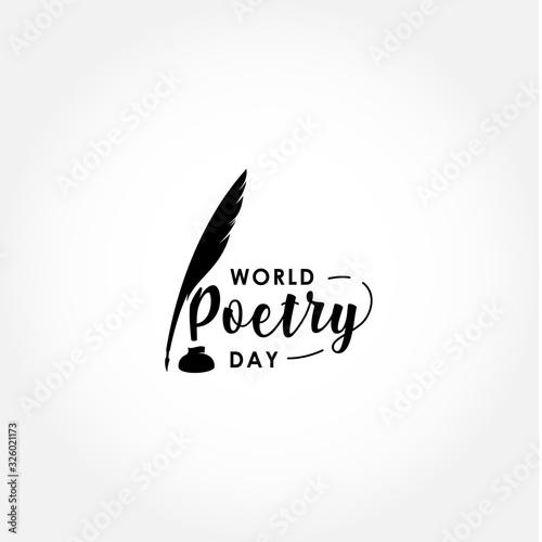 Fototapeta World Poetry Day Vector Design For Celebrate Moment
