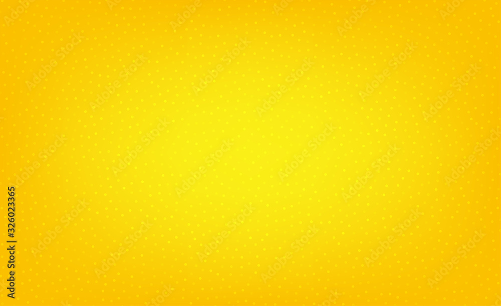 Fototapeta Abstract yellow dotted background. Circles pattern. Cover with spots. Orange background with dots. Abstract colored bubbles effect. Dotted vector
