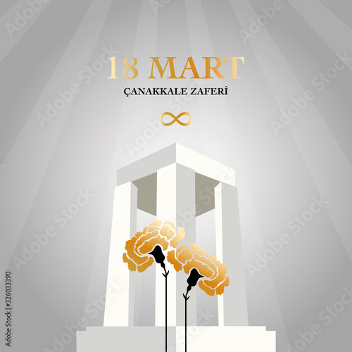 18 March Canakkale victory day Wallpaper Mural