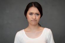Face Portrait Of Sad Unhappy G...