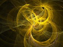 Yellow Fractal On Black