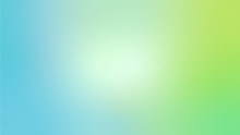 Light Blue And Green Abstract Blurred Gradient Vector Background. Colorful Iustration With Blurry Effect For Wallpaper, Baner, Card, Brand Book, Magazine Or Brochure In 16 : 9 Resolution