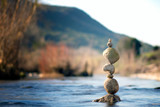 Fototapeta Kamienie - Autumn stack balance